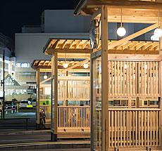 秋田駅西口バスシェルター路